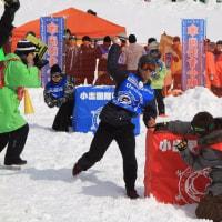 熱戦繰り広げた国際雪合戦大会