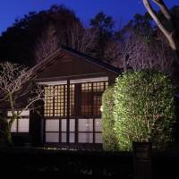 東京・小金井市の江戸東京たてもの園のライトアップされた建物を撮りに行った