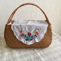 アジアンなバッグにカロチャ刺繍