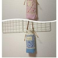 ペットボトルホルダー 花柄でピンクと水色の2色 (*^▽^*)♪