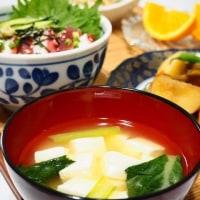 ☆マグロとタコのづけ丼&根菜の煮もの☆