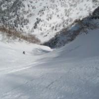富良野岳BC「鉾岩ルンゼ」