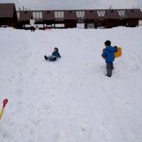 雪国なので雪遊び