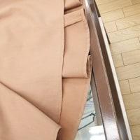 新作☆JJコラボ☆合皮巻ベルト付 タックフレアスカート