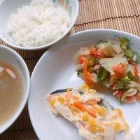鮭のマヨコーン焼き