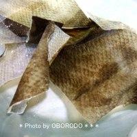 くるんくるんの鮭の革を伸ばします