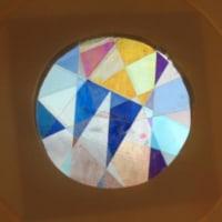 偏光万華鏡を作りました M小、最後の子供教室です!