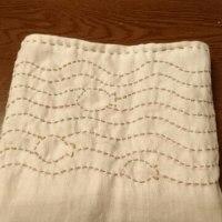 大根染めガーゼで、ちくちく手縫いバッグ