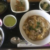 2月21日の日替り定食550円は 豚肉の柳川風 です。