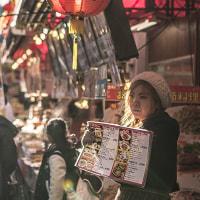 中華街で逆光テスト