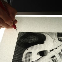 シルクスクリーンプリント4色刷講座 / 2日目 製版・1色目の刷り