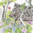 6月21日 スケッチ会 白山神社にて