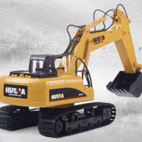 5%off-HuiNa Toys 1550 15CH 1/12RC メタル 掘削機 充電 RC カー RTR 2.4G