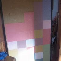 折り紙をふすま紙代わりに