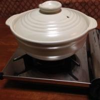 土鍋、夕飯は寄せ鍋