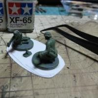 1/72ドイツ将校/砲兵21体&迫撃砲3門を作る