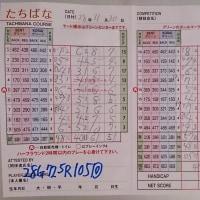 今日のゴルフ挑戦記(74)/新千葉CC「たちばな」アウト→イン(ベント)