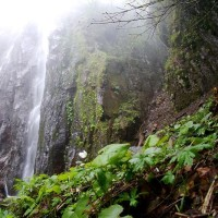 米子大瀑布から~奇妙滝&雨模様滝へ