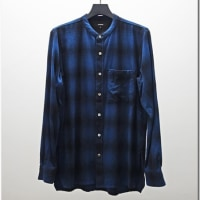 ATTACHMENT16-17 AW / PLAID BAND COLLAR SHIRT
