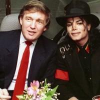 マイケル・ジャクソン & ドナルド・トランプ  2ショット