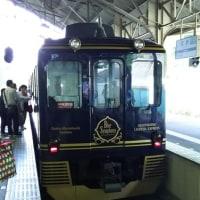 電車「青の交響曲」と吉野山のスイーツ