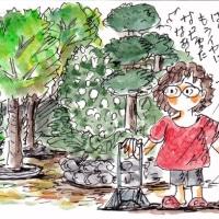 落ち葉の掃除、きらいなの~(イラスト)