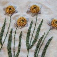 水仙の刺しゅう