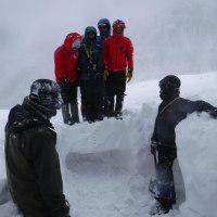 例会山行「大山雪洞作り山行(その2)」