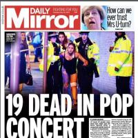 マンチェスターのコンサート終演後、爆発で22人死亡。