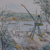 三浦半島・城ヶ島の造船所