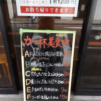 「南粤美食」と言う店が昨年開業、ランチの案内には「力一杯美食中」の案内。何かおもしろい。