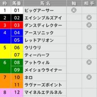 9/11【セントウルS[GⅡ]】[枠連]的中!予感
