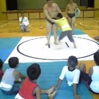 相撲大会&スイカ割り