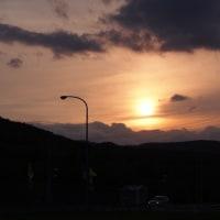 生田原の夕暮れとタンポポ