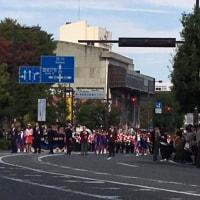 20161024 いろいろなコト!画像は第27回高崎マーチングFパレードスタート地点 背の高い帽子が私(笑)