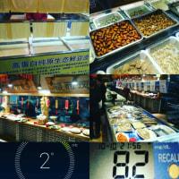#161208 青島の夕飯の片隅に虫さん達が…