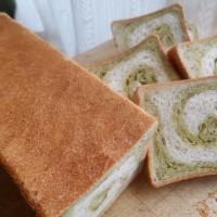 抹茶の渦巻パン