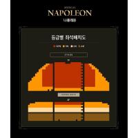 ミュージカル'나폴레옹(ナポレオン)' 等級別&前売りサイト別配置図 1次チケットオープン