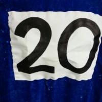 ゼッケン『20』縫い付けました♪。