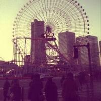 夕暮れの横浜