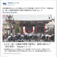 関東平野部で、20日(金)に雪?!気象ビジネスに火がついた!!〜〜〜