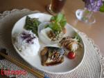 和食プレート。。。青魚とお豆のプレートご飯~ダイエット効果あり・・・?(笑^^