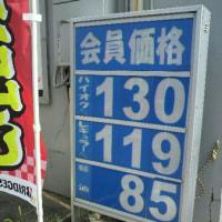 ガソリンが高くなっています