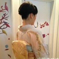 29.4.8出張着付2件目は藤井寺市、お嬢様の入学式に行かれる訪問着の着付&へセットでした。