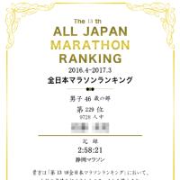 The 13th ALL JAPAN MARATHON RANKING(male, 46y)
