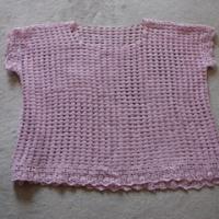 ♪ZAKKAレースの編み直しピンクプル。