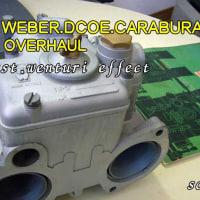 創楽 Weber DCOE carburetor overhaul ウェーバーオーバーホール