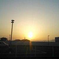 夕日がきれいでした!