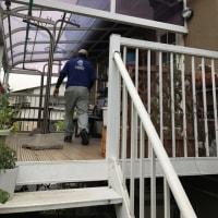 岡山市中区の住宅で軒裏修繕工事も明日から本格的に始動