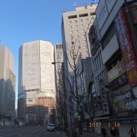 新阪急ビルの建て替え工事 ・ 2017.1.18